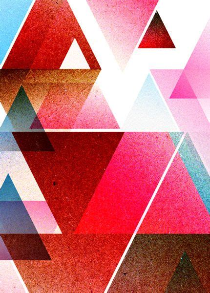 Abstract Geometric Shapes Pattern by Abstract Spray Painting With Different Sizes Of One