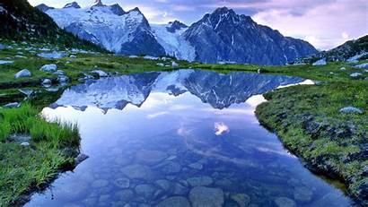 Mountain Lake Landscape Nature Desktop Backgrounds Wallpapers