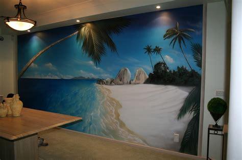 beach wall mural beach scene artwork