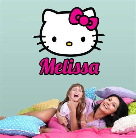 personalized   kitty wall decal girls wall