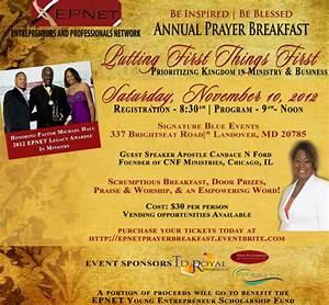 EPNET 3rd Annual Prayer Breakfast Tickets, Sat, Nov 10 ...