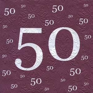 Servietten 1 Geburtstag : servietten 50 geburtstag mit pr gung 20 st ck 3 lagig 33x33cm 508306 ~ Udekor.club Haus und Dekorationen