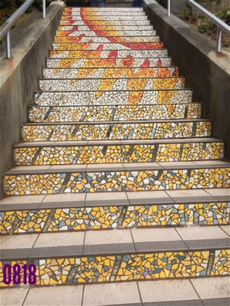 16th Ave Tiled Steps Project by Mosaic Steps Picture Of 16th Ave Tiled Steps Project