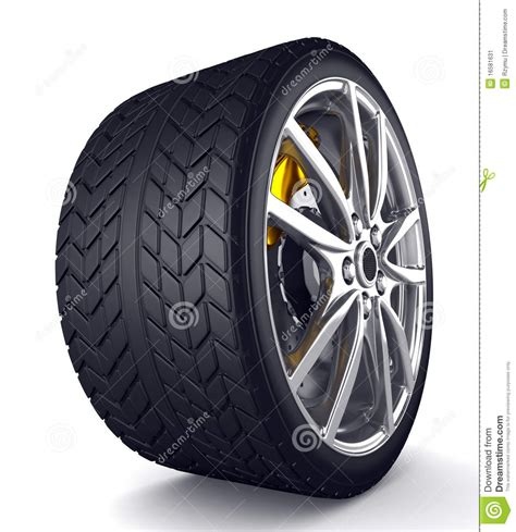 Alloy Wheels For Sports Car Stock Illustration Image