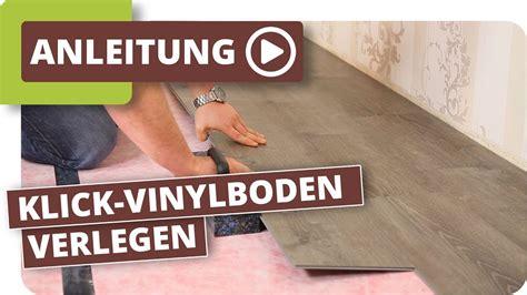 klick vinylboden verlegen anleitung youtube