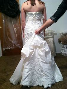 wedding gown alternations corset back and bustle With wedding dress bustle
