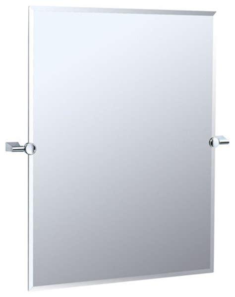 Tilting Bathroom Mirror Chrome by Gatco Bleu Collection Tilting Wall Mirror Beveled