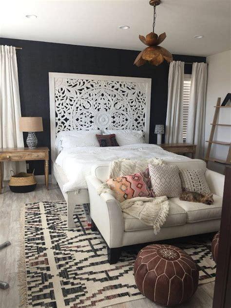 large california king size bed teak wood bohemian