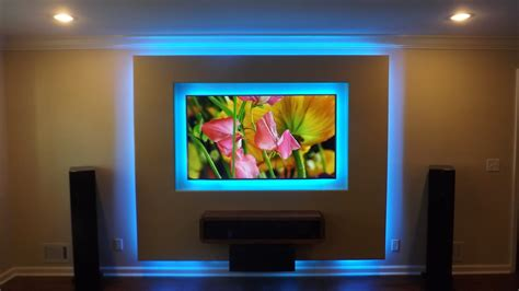 Fernsehwand Mit Beleuchtung by Tv Theater Walls Lights Home Audio Handyman