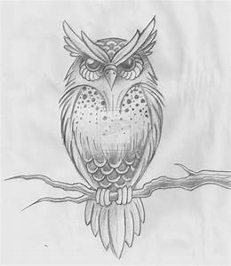 owl sketch by ~hold-back-the-day on deviantART | We Heart ...
