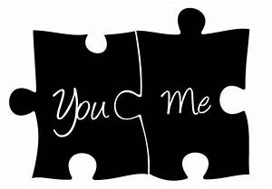 You and Me Puzzle Wall Decal - Romantic Wall Decor