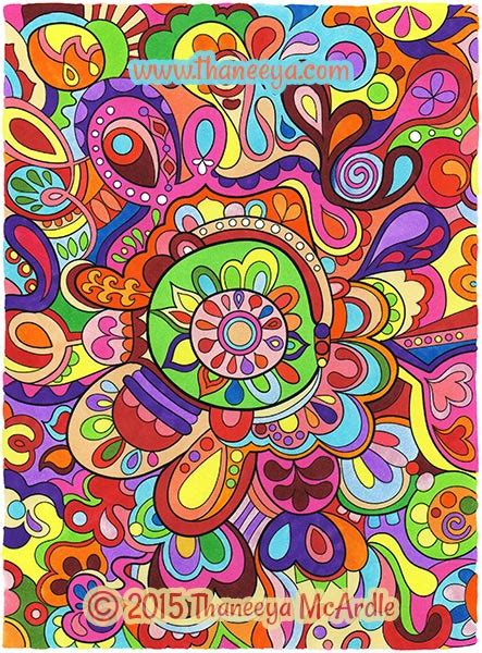 groovy abstract coloring book  thaneeya mcardle