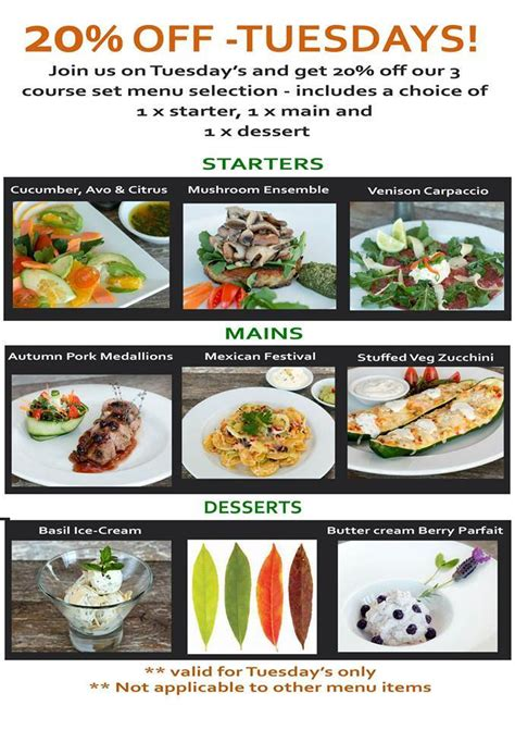 discount cuisine 20 discount for lunch dinner at seasons cuisie sandton