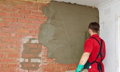 hard plaster  brick wall bunnings warehouse