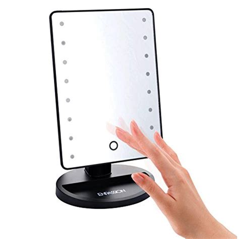 portable makeup mirror with lights 16 led makeup mirror with lights and tray hollywood