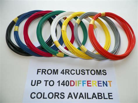 8 automotive 20 gauge txl wire 8 colors 25 each color
