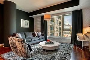 decoration d39interieur salon 135 idees en styles varies With tapis de gym avec canapé style anglais cuir