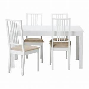 Ikea Weiße Stühle : bjursta b rje tisch und 4 st hle ikea wohnung tisch st hle und esstisch ausziehbar ~ Watch28wear.com Haus und Dekorationen