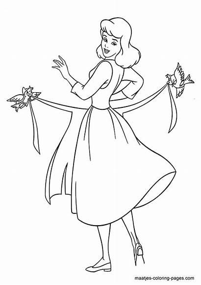 Cinderella Coloring Browser Window