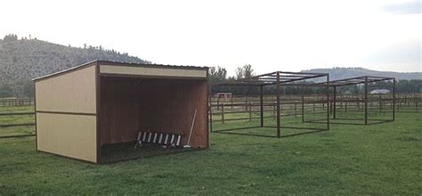 loafing shed kits kansas three 12 x 12 loafing sheds these might work out