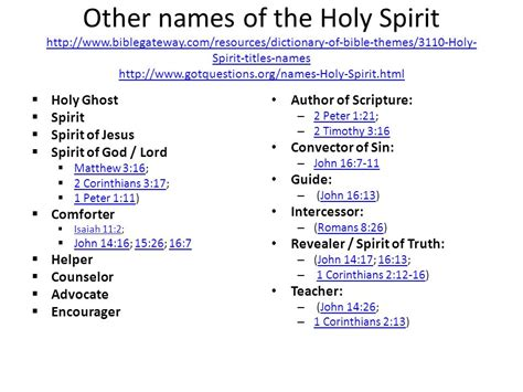 A Study Of The Holy Spirit By Catherine Marshall Ppt