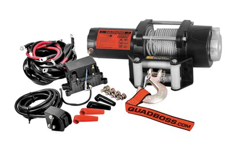 quadboss 2 500 lb winch with wire cable
