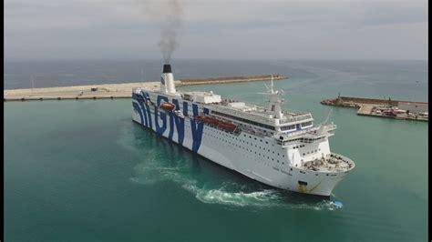 olbia porto torres porto torres sardinia gnv ferry approaching the