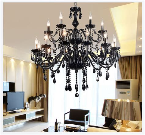 18 lights luxury black chandelier lighting l