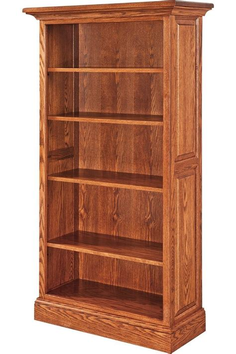 amish kincade bookcase book shelf solid wood  office