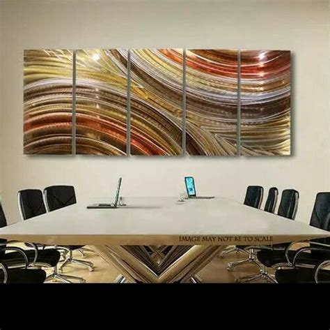 large modern abstract bronze copper painting metal wall