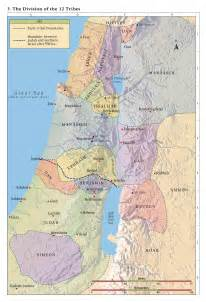 Maps of the Tribes of Israel Promised Land