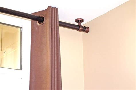 ceiling mount drapery rods best 25 ceiling mount curtain rods ideas on