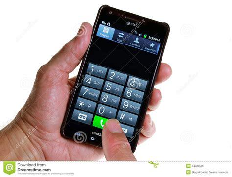 make phone call at t smartphone a call editorial photo image