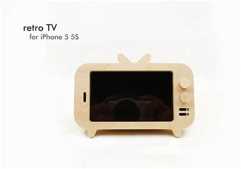 telly inspired smartphone holders retro tv  iphone