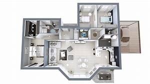 Plan 3d Maison Contemporaine