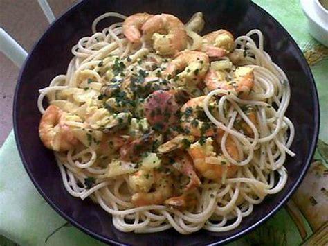 recette de spaghettis aux fruits de mer sauce curry