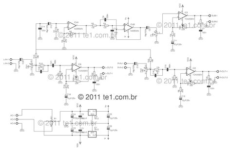 Circuit Power Audio Amplifier With Tda Chanell
