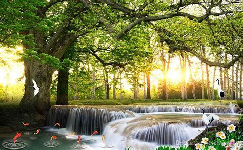 3d Wallpaper Scenery by Custom Modern Wallpaper Waterfall Scenery Wallpaper For