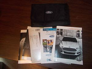 ford fusion owners manual kit ebay