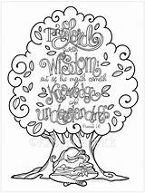Coloring Wisdom Bible Proverbs Psalm Sizes 5x11 Journaling Tip sketch template
