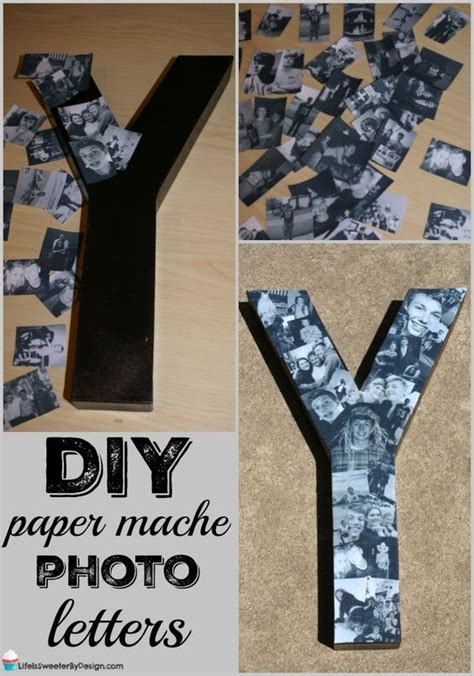 diy paper mache photo letters collage  easy