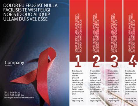 aids brochure template design  layout