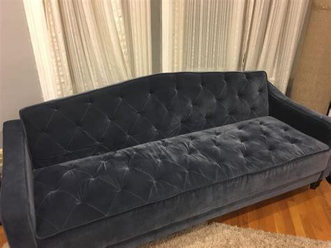 Tufted Velvet Sofa Bed by Letgo Blue Velvet Tufted Sleeper Sofa Bed In Brighton Ma