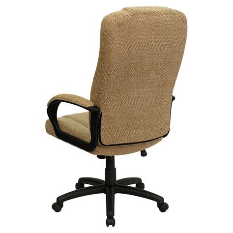 fabric executive swivel office chair high back beige