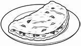 Omelet Omelette Mullen sketch template