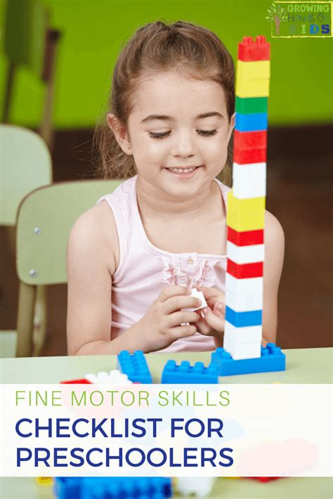 motor skills checklist for preschoolers ages 3 5 873 | fine motor skills checklist for preschoolers PIN