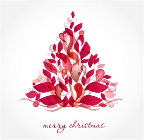 abstract christmas decoration tree vector free vector art