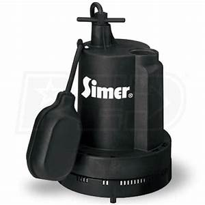 Simer 2905  4 Hp Thermoplastic Submersible Sump Pump W