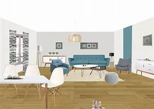 Salon Design Scandinave : deco scandinave salon 2 perspective sous photoshop style scandinave so d233co lertloy com ~ Preciouscoupons.com Idées de Décoration