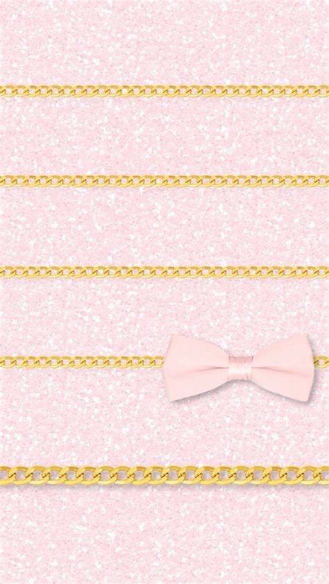Girly Home Screen Wallpaper Quotes by Pink Girly Glitter Ribbon Gold Iphone Wallpaper Home